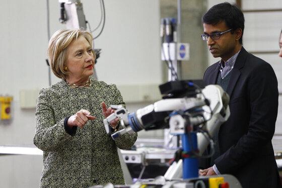 Hillary Clinton, Siddhartha Srinivasa