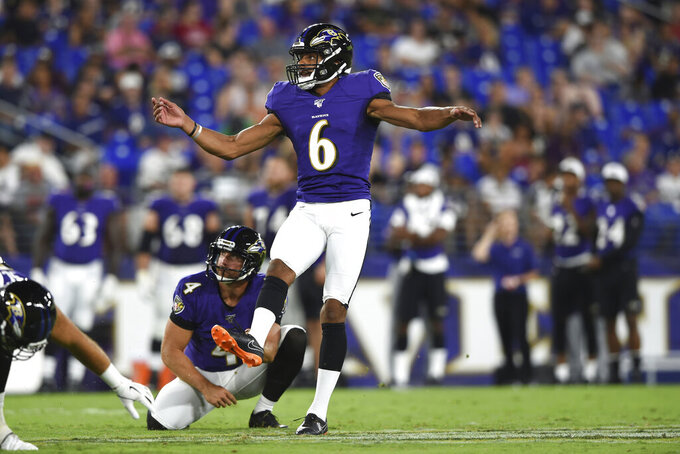 Vikings get kicker/punter Kaare Vedvik in trade with Ravens