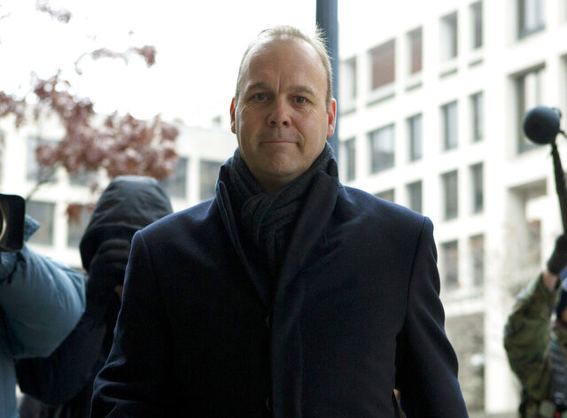 Former Deputy Trump campaign aide Rick Gates arrives to the federal court in Washington, Tuesday, Dec. 17, 2019.  (AP Photo/Jose Luis Magana)