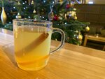 In this Wednesday, Dec. 4, 2019 photo, a traditional hot toddy is displayed at the Dewar's Aberfeldy in London.  While mulled wine, warm spiced cider and hot toddies have long been British staples during winter many cocktail bars in London offer their own seasonal winter warmers.  (AP Photo/Louise Dixon)