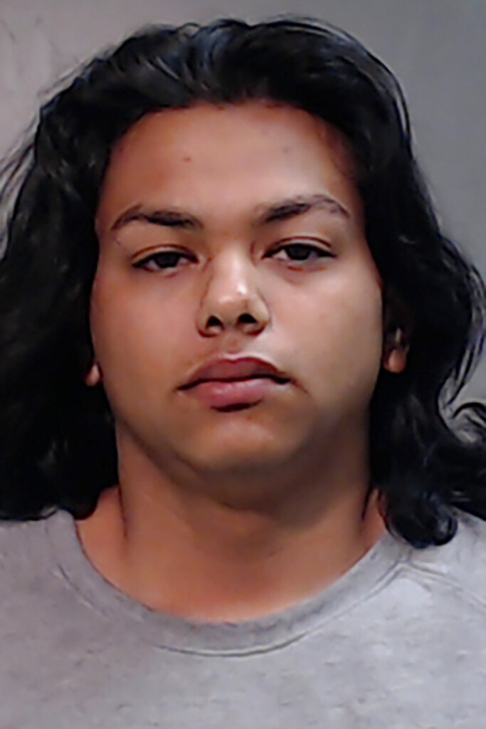 This undated photo provided by the Hidalgo County (Texas) Jail shows Claudio Gomez. Gomez is accused of hanging a small puppy by the neck from a tree and posting a video of the deed on Facebook. Deputies say Claudio Gomez of Monte Alto, Texas, told them he was