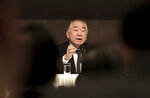 Moon Chung-in, a special adviser to South Korean President Moon Jae-in, speaks during a forum hosted by the Kwanhun Club in Seoul, South Korea, Tuesday, March 12, 2019. Moon says a possible North Korean rocket launch would cause a