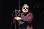 FILE - In this Saturday, Sept. 14, 2019, file photo, John Lyon of Southside Johnny and the Asbury Jukes performs during KAABOO 2019 at the Del Mar Racetrack and Fairgrounds in San Diego. New Jersey rock royalty was onstage Sunday, Oct. 27, 2019, in the state's musical cradle as rocker Jon Bon Jovi brought soulful crooner Southside Johnny Lyon with him into the New Jersey Hall of Fame. (Photo by Amy Harris/Invision/AP, File)
