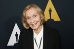 Eva Marie Saint poses at the Academy Nicholl Fellowships in Screenwriting Awards and Live Read at the Academy of Motion Picture Arts and Sciences Samuel Goldwyn Theater on Thursday, Nov. 7, 2019, in Beverly Hills, Calif. (Photo by Danny Moloshok/Invision/AP)