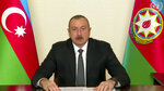 In this image made from UNTV video, President of Azerbaijan Ilham Aliyev, speaks in a pre-recorded message which was played during the U.N. General Assembly's special session to discuss the response to COVID-19 and the best path to recovery from the pandemic, Thursday, Dec. 3,2020, at UN headquarters, in New York. (UNTV via AP)
