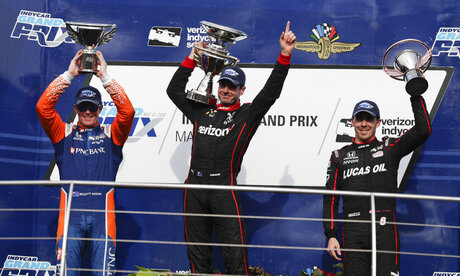 Will Power, Robert Wickens, Scott Dixon