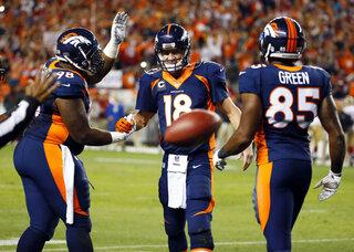 Peyton Manning, Terrance Knighton, Virgil Green