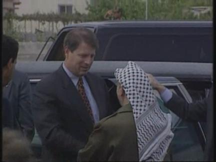 Israel/West Bank - US Vice President Al Gore Visit