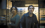 """This image released by Sony Pictures shows Taylor Russell and Logan Miller in a scene from """"Escape Room: Tournament of Champions."""" (Sony via AP)"""