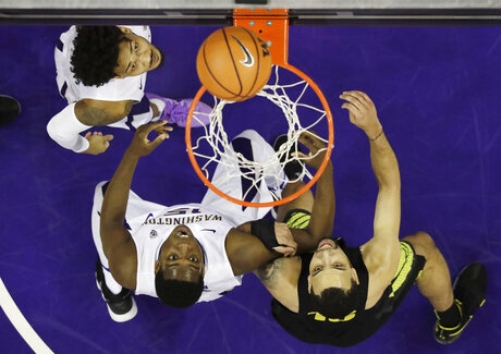 APTOPIX Oregon Washington Basketball