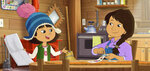 This image released by PBS shows characters Molly, voiced by Sovereign Bill, left, and her mother, voiced by Jules Koostachin in a scene from the animated series
