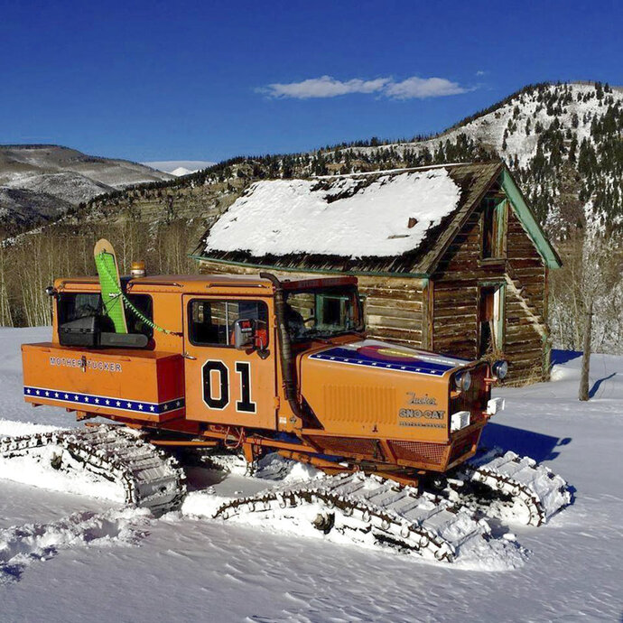 This undated photo provided by John Brandenburg shows a Sno-Cat co-owned by Brandenburg. Authorities in Colorado are looking for a man suspected of stealing the Sno-Cat fitted out to look like the