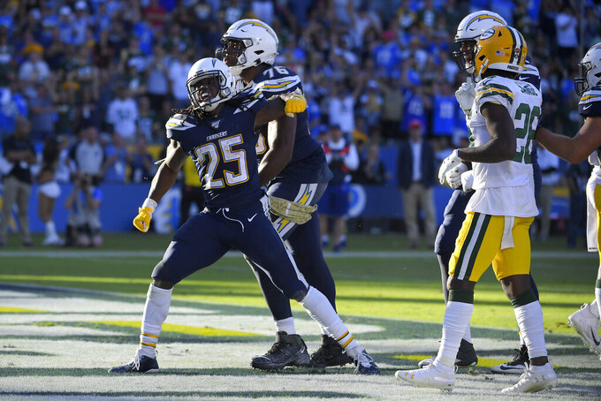 Gordon scores twice as Chargers dominate Packers 26-11
