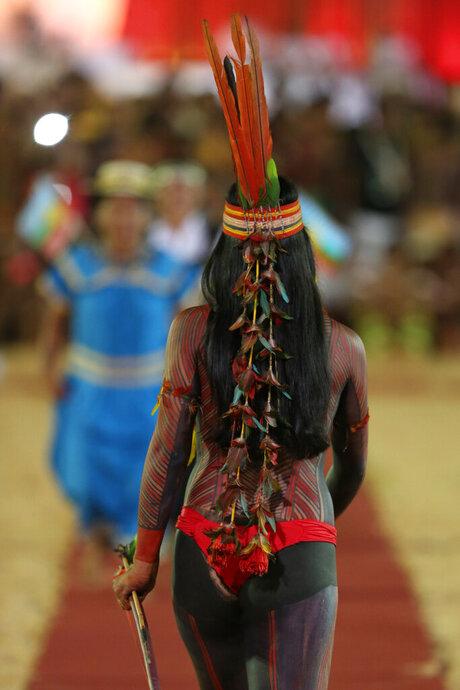 APTOPIX Brazil Indigenous Beauty