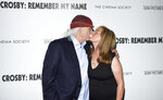 Musician David Crosby and wife Jan Dance attend a special screening of