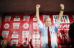 Democratic presidential candidate and businessman Tom Steyer reacts after speaking at a Culinary Workers Union hall Thursday, Jan. 16, 2020, in Las Vegas. (AP Photo/John Locher)