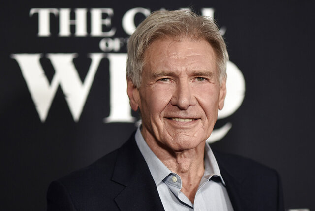 FILE - In this Feb. 13, 2020 file photo, Harrison Ford attends the premiere of
