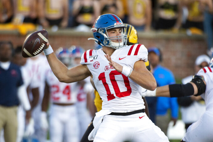 Ole Miss hoping two-QB plan keeps defenses off balance