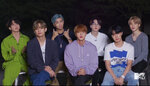 In this video grab issued Sunday, Aug. 30, 2020, by MTV, BTS accepts the award for best pop video for