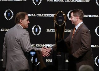 CFP National Championship Clemson Alabama Football