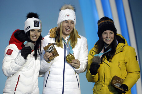 Pyeongchang Olympics Medals Ceremony Alpine Skiing