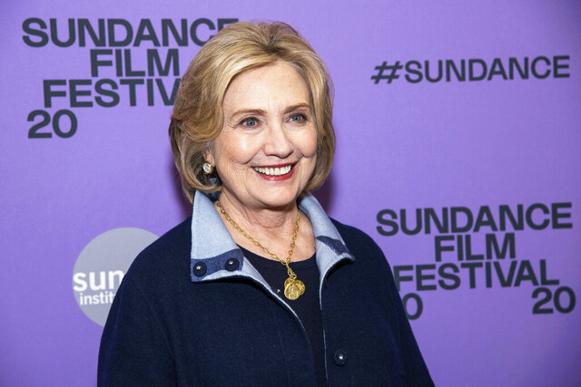 Hillary Clinton attends the premiere of