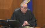 In this image from video, Hennepin County Judge PeterCahill speaks to the jury after the state and the defense rest their case, Thursday, April 15, 2021, in the trial of former Minneapolis police Officer Derek Chauvin at the Hennepin County Courthouse in Minneapolis, Minn.  Chauvin is charged in the May 25, 2020 death of George Floyd.   (Court TV via AP, Pool)