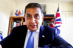 In this photo provided by the United Nations, United Kingdom's Minister for the Commonwealth, the UN and South Asia Tariq Ahmad, addresses the high-level virtual panel entitled