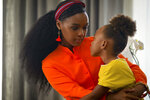 This image released by Lionsgate shows Janelle Monae, left, and London Boyce in a scene from