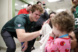 Jets Darnold Hospital Football