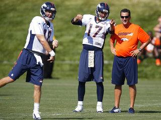 Peyton Manning, Brock Osweiler, Greg Knapp