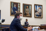 Securities and Exchange Commission (SEC) Chairman Jay Clayton testifies before a House Committee on Financial Services hearing on Financial Services Capital Markets and Emergency Lending in the COVID-19 Era on Capitol Hill in Washington on Thursday, June 25, 2020. (Rod Lamkey/Pool via AP)
