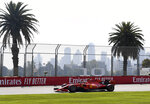 Ferrari driver Charles Leclerc of Monaco goes through turn 10 during the final practice session for the Australian Grand Prix in Melbourne, Australia, Saturday, March 16, 2019. The first race of the year is Sunday. (AP Photo/Andy Brownbill)
