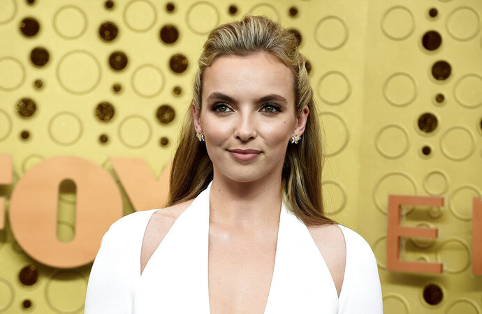 Jodie Comer arrives at the 71st Primetime Emmy Awards on Sunday, Sept. 22, 2019, at the Microsoft Theater in Los Angeles. (Photo by Jordan Strauss/Invision/AP)