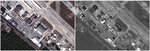 This photo combo of satellite images provided by DigitalGlobe shows Tyndall Air Force Base near Panama City, Fla.,  on Nov. 17, 2017,  left, prior to Hurricane Michael and on Oct. 11, 2018, right, taken by DigitalGlobe's WorldView-1 satellite, which collects panchromatic (black and white) imagery, after the storm swept through the area. (DigitalGlobe, a Maxar company via AP)
