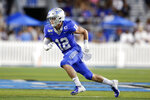 Middle Tennessee safety Reed Blankenship (12) plays against Tennessee State in the first half of an NCAA college football game Saturday, Sept. 7, 2019, in Murfreesboro, Tenn. (AP Photo/Mark Humphrey)