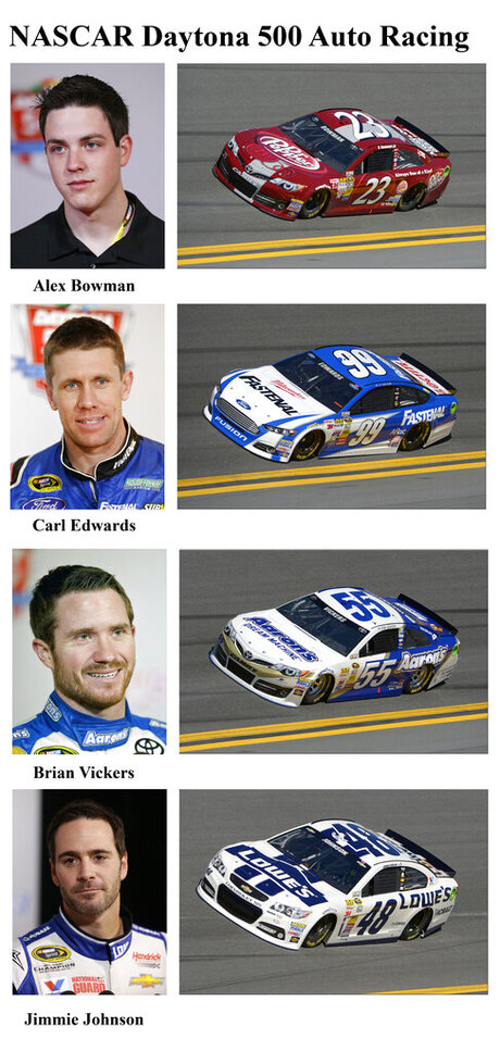Alex Bowman, Carl Edwards, Brian Vickers, Jimmie Johnson