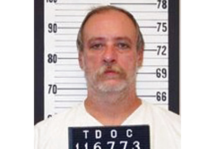 FILE - This undated file photo provided by the Tennessee Department of Correction shows death row inmate Sedley Alley. The Innocence Project hopes to use DNA evidence to exonerate Alley 13 years after his execution.  If the Innocence Project succeeds with Alley, it will be the first time anyone has used such evidence to exonerate a person who has already been executed.  (AP Photo/Tennessee Department of Correction, File)
