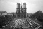 FILE - This April 18, 1967, file photo, shows the Notre Dame Cathedral in Paris. Art experts around the world reacted with horror to news of the fire that ravaged cathedral on Monday, April 15, 2019. One shell-shocked art expert is calling the beloved Gothic masterpiece 'one of the great monuments to the best of civilization.'  (AP Photo/File)