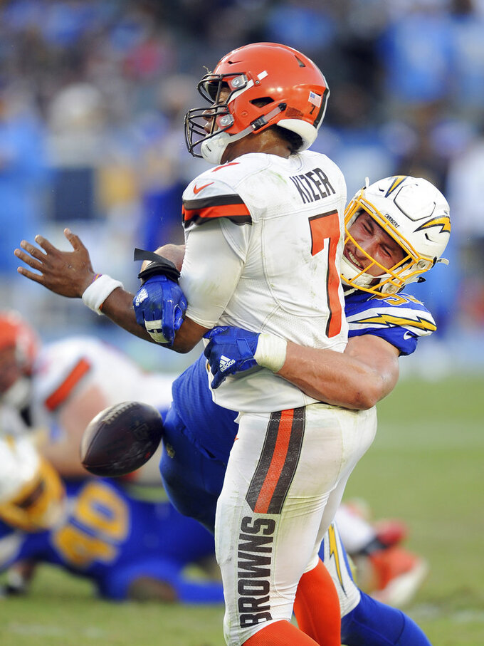 Cleveland Browns at Los Angeles Chargers 12/3/2017