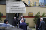 Staff arrive at the Saudi Arabia consulate in Istanbul, Tuesday, Oct. 9, 2018. Saudi journalist Jamal Khashoggi disappeared a week ago after entering Saudi Arabia's consulate to obtain paperwork required for his marriage to his Turkish fiancee. Turkish officials have alleged he was killed in the compound while Saudis officials said he left the building unharmed. (AP Photo/Lefteris Pitarakis)