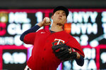 Minnesota Twins pitcher Griffin Jax throws to a Kansas City Royals batter during the first inning of a baseball game Friday, Sept. 10, 2021, in Minneapolis. (AP Photo/Jim Mone)