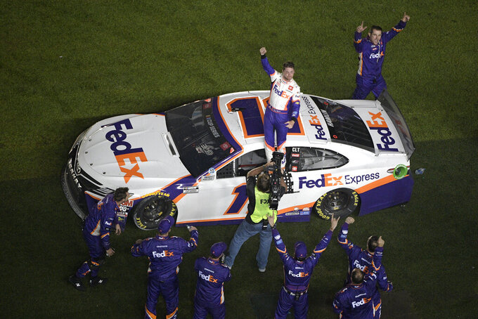 Denny Hamlin wins 3rd Daytona 500; Ryan Newman hospitalized