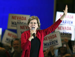 Sen. Elizabeth Warren, D-Mass., pushed back at fellow Democrats who advocate a more moderate path to the White House during a speech at Truckee Meadow Community College, Tuesday night, Dec. 10, 2019, in Reno, Nev. She said her party will lose the 2020 presidential election if it settles for a