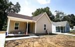 Newly built homes at 1991 and 1995 Whitney in Frayser, Tenn. are part of an incentive by the city to help overcome the lasting effects of the recession. (Mark Weber/Daily Memphian via AP)