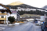 General view on a street where a car had plowed into a group of people in Luttach, near Bruneck in the northern region South Tirol, Italy, Sunday, Germany, Jan. 5, 2020. Italian fire officials say a car crashed into a group of young German tourists in northern Italy, killing at least six people and injuring eleven. (AP Photo/Helmut Moling)