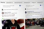 "This photo shows a search for political ads that were on Facebook displayed on a computer screen Thursday, Oct. 31, 2019, in New York. Twitter's ban on political advertising is ratcheting up the pressure on Facebook and Mark Zuckerberg to follow suit. Zuckerberg doubled down on Facebook's approach in a call with analysts Wednesday, Oct. 30, he reiterated Facebook's stance that ""political speech is important."