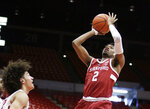 Stanford guard Bryce Wills (2) shoots in front of Washington State forward CJ Elleby during the first half of an NCAA college basketball game in Pullman, Wash., Saturday, Jan. 19, 2019. (AP Photo/Young Kwak)
