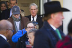 Special Counsel Robert Mueller exits St. John's Episcopal Church after attending services, across from the White House, in Washington, Sunday, March 24, 2019. Mueller closed his long and contentious Russia investigation with no new charges, ending the probe that has cast a dark shadow over Donald Trump's presidency. (AP Photo/Cliff Owen)