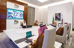 In this handout image provided by G20 Riyadh Summit, Saudi King Salman, top right, gives his opening remarks at a virtual G20 summit hosted by Saudi Arabia and held over video conference amid the COVID-19 pandemic, in Riyadh, Saudi Arabia, Saturday, Nov. 21, 2020. (G20 Riyadh Summit via AP)